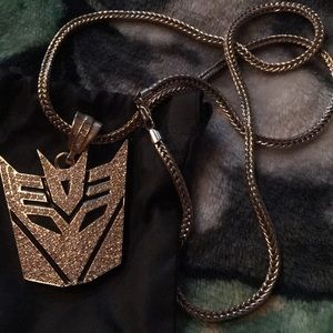 Transformer gold plated necklace